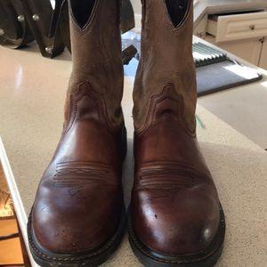 Ariat Men's Steel Toe Boots 8.5D great shape Brown